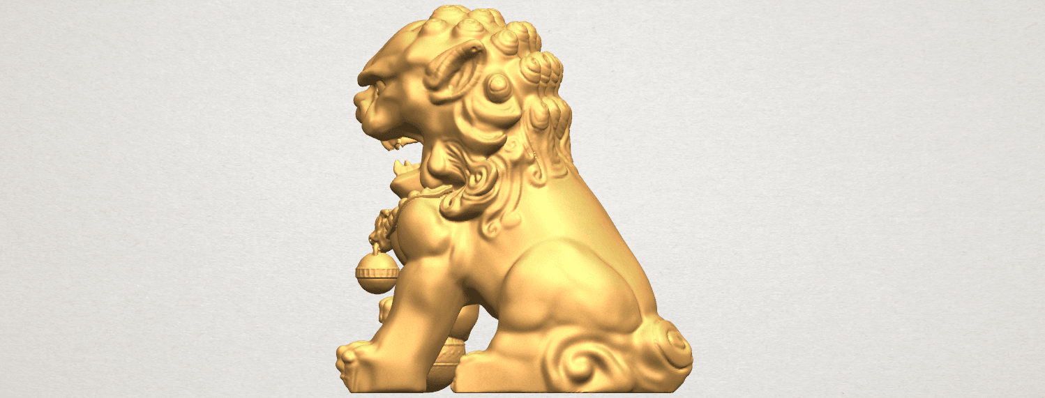 TDA0500 Chinese Lion A03.png Download free STL file Chinese Lion • 3D printing object, GeorgesNikkei