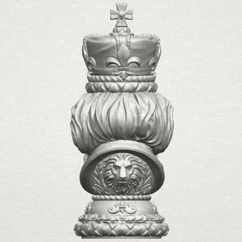 TDA0254 Chess-The King A07.png Télécharger fichier STL gratuit Chess-Le roi des échecs • Objet pour impression 3D, GeorgesNikkei