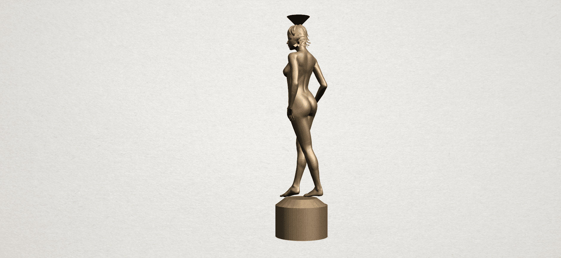 Naked girl-vase-B04.png Download free STL file Naked Girl with Vase on Top (i) • 3D print template, GeorgesNikkei
