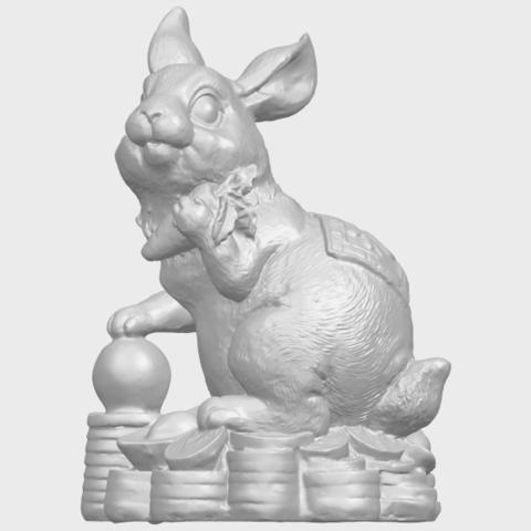 07_TDA0559_Rabbit_02A02.png Télécharger fichier STL gratuit Lapin 02 • Design imprimable en 3D, GeorgesNikkei