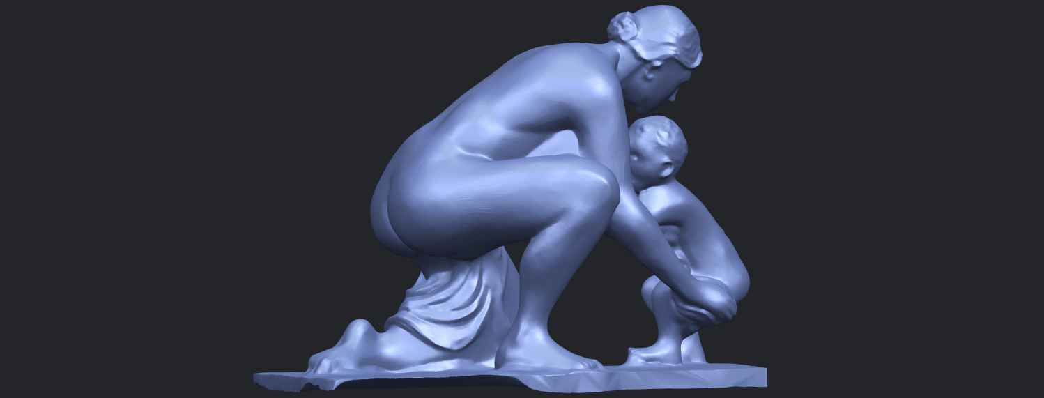 10_Mother-Child_(iv)_90mm_(repaired)B06.png Download free STL file Mother and Child 04 • 3D print template, GeorgesNikkei