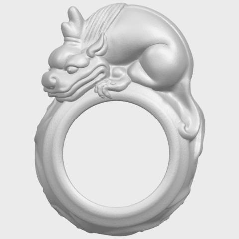 07_TDA0504_Pi_Xiu_RingA01.png Télécharger fichier STL gratuit Bague Pi Xiu Ring • Modèle à imprimer en 3D, GeorgesNikkei