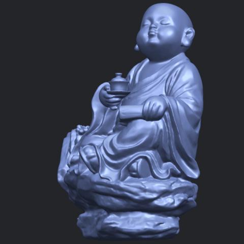 17_TDA0558_Little_Monk_Drink_TeaB03.png Télécharger fichier STL gratuit Boire du thé Little Monk Drink Tea • Design à imprimer en 3D, GeorgesNikkei