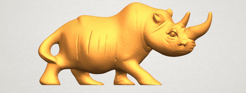 TDA0310 Rhinoceros (ii) A04.png Download free STL file Rhinoceros 02 • 3D printing model, GeorgesNikkei