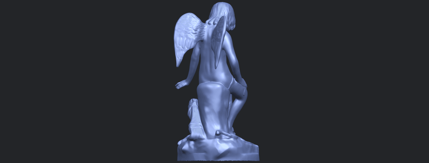 05_Angel_and_Dog_80mmB07.png Download free STL file Angel and Dog • 3D print model, GeorgesNikkei