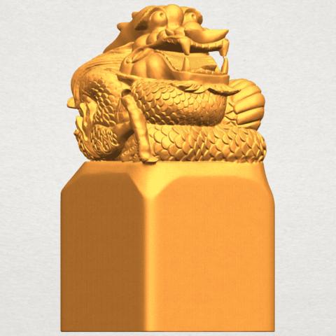 A08.png Télécharger fichier STL gratuit Timbre Dragon 01 • Objet à imprimer en 3D, GeorgesNikkei