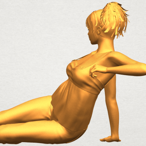 A04.png Télécharger fichier STL gratuit Fille Nue F06 • Modèle pour impression 3D, GeorgesNikkei