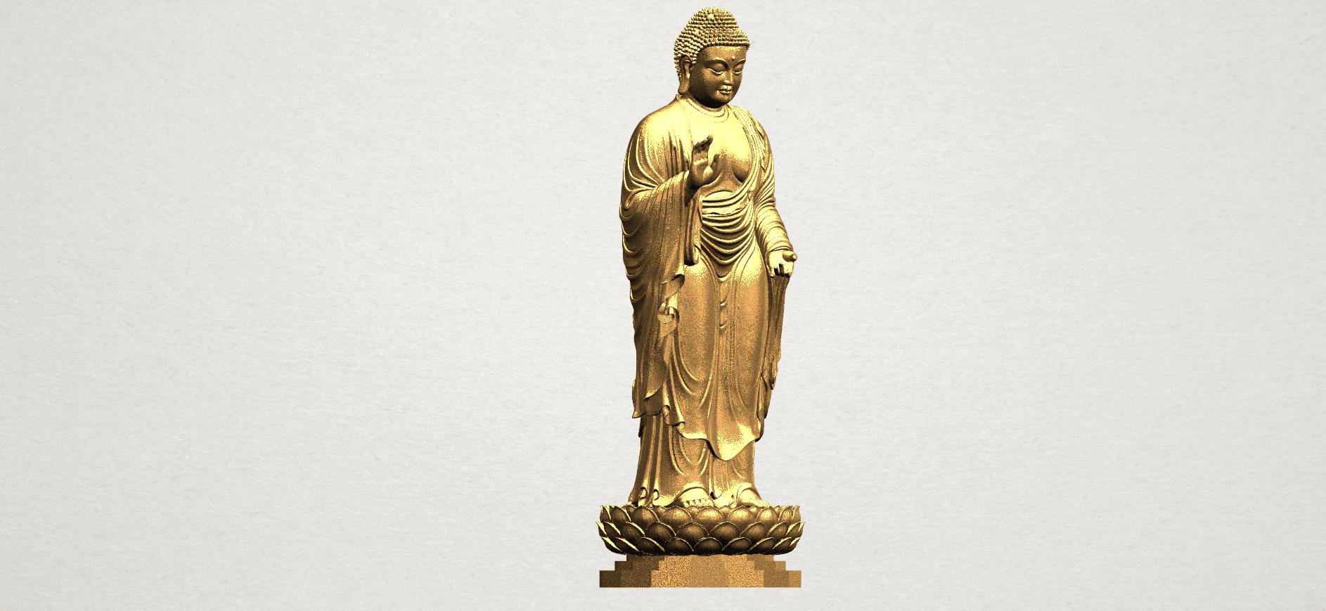 Gautama Buddha Standing (ii) A08.png Download free STL file Gautama Buddha Standing 02 • 3D printer design, GeorgesNikkei