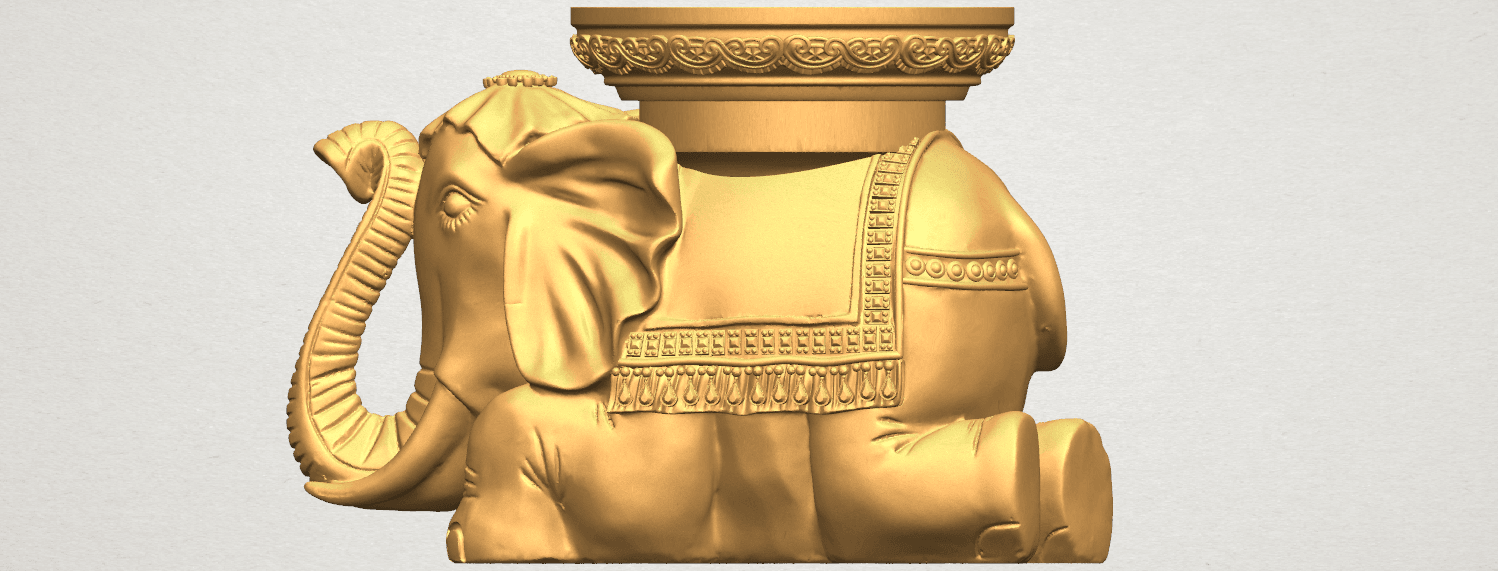 TDA0501 Elephant Table A02.png Download free STL file Elephant Table • 3D printing object, GeorgesNikkei