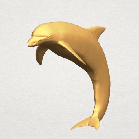 TDA0613 Dolphin 03 A07.png Télécharger fichier STL gratuit Dauphin 03 • Objet pour impression 3D, GeorgesNikkei