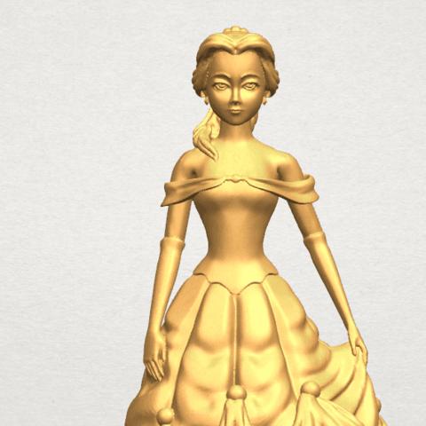 TDA0578 Princess Belle A09.png Télécharger fichier STL gratuit Princesse Belle • Modèle pour impression 3D, GeorgesNikkei