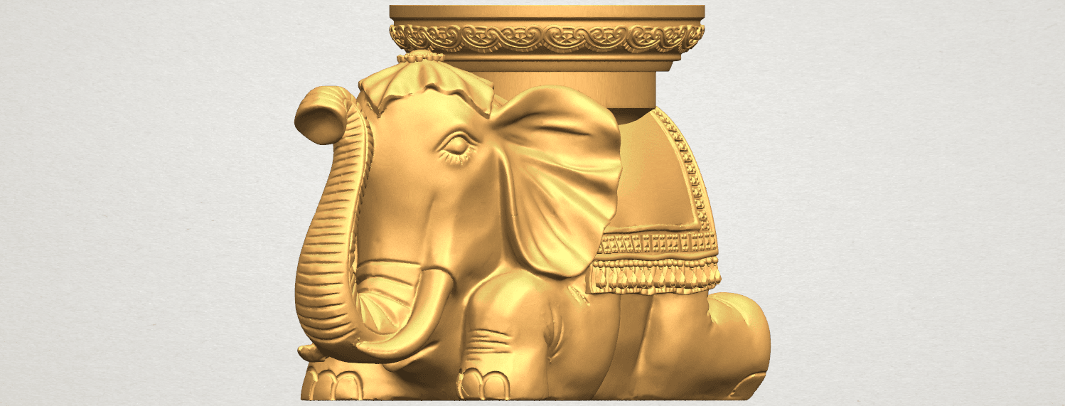 TDA0501 Elephant Table A01 ex1500.png Download free STL file Elephant Table • 3D printing object, GeorgesNikkei