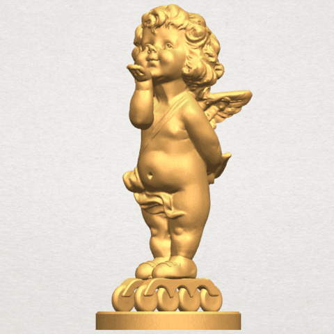 TDA0480 Angel Baby 03 A02.png Download free STL file Angel Baby 03 • 3D printing template, GeorgesNikkei