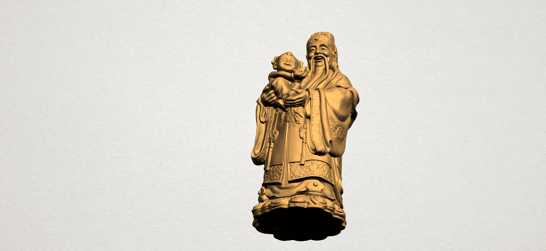 Fook (Fook Look Sao) 80mm - A08.png Télécharger fichier STL gratuit Fook (Fook Look Sao) • Design à imprimer en 3D, GeorgesNikkei