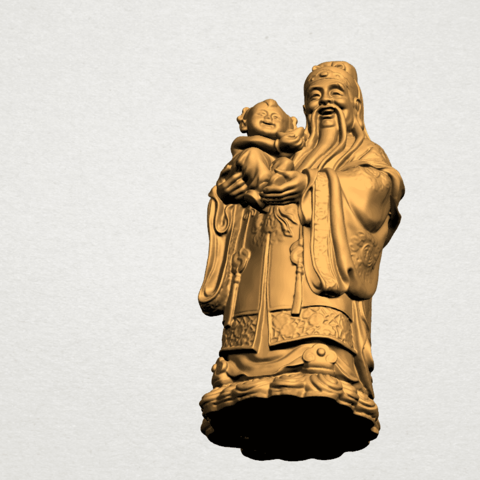 Fook (Fook Look Sao) 80mm - A08.png Download free STL file Fook (Fook Look Sao) • 3D printer template, GeorgesNikkei