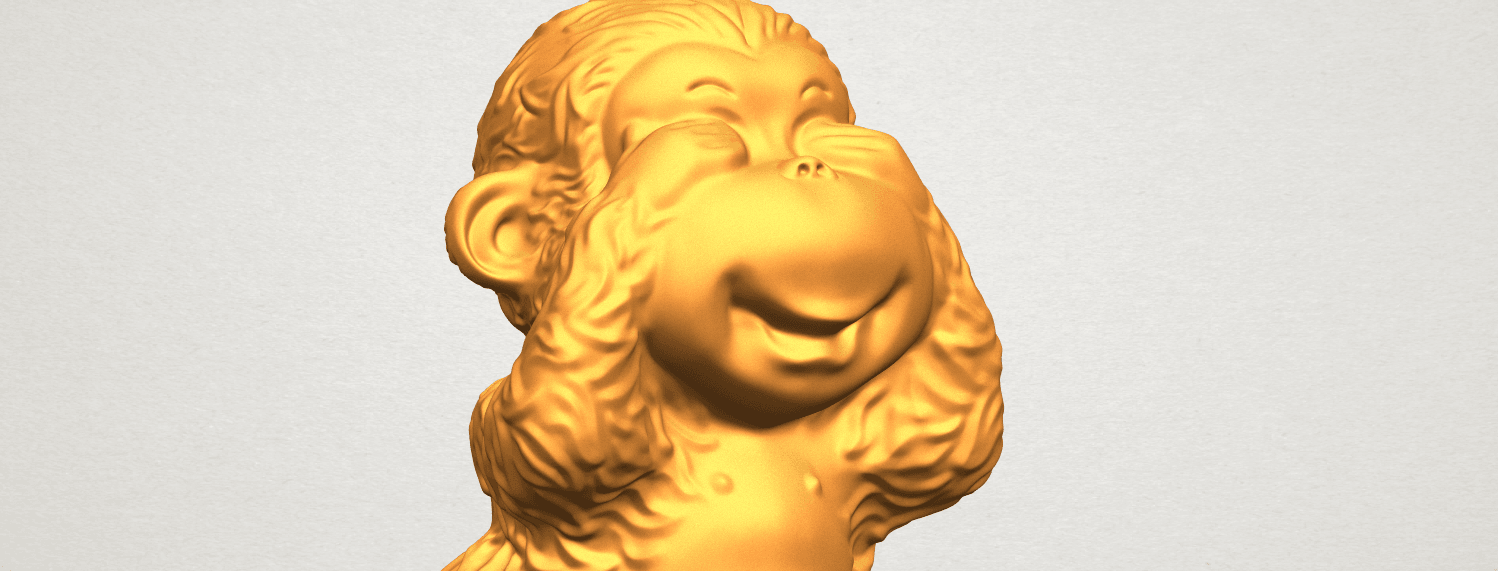 A11.png Download free STL file Monkey A03 • 3D printable model, GeorgesNikkei