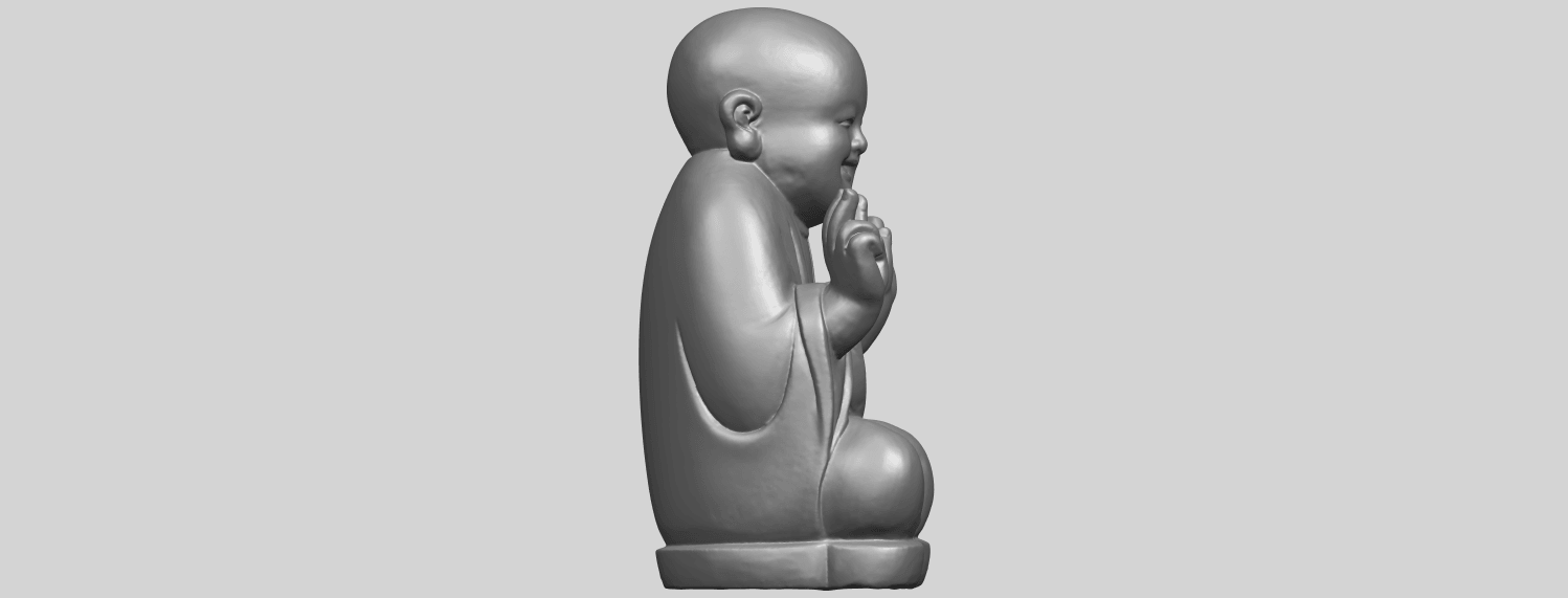 TDA0732_Little_Monk_05A09.png Download free STL file Little Monk 05 • 3D printing template, GeorgesNikkei
