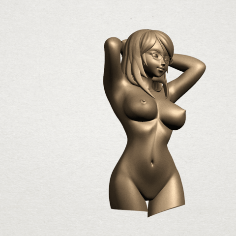 Naked Girl - half body A07.png Download free STL file Naked Girl 01- half body • 3D printing template, GeorgesNikkei