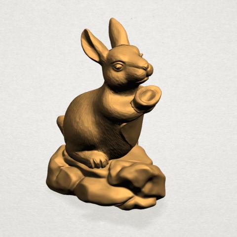 Chinese Horoscope04-A05.png Télécharger fichier STL gratuit Horoscope Chinois 04 Lapin • Design à imprimer en 3D, GeorgesNikkei