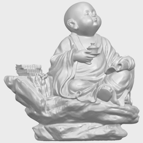 17_TDA0558_Little_Monk_Drink_TeaA01.png Télécharger fichier STL gratuit Boire du thé Little Monk Drink Tea • Design à imprimer en 3D, GeorgesNikkei