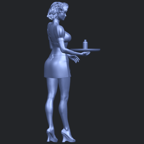 07_TDA0475_Beautiful_Girl_09_WaitressB09.png Download free STL file Beautiful Girl 09 Waitress • 3D printable object, GeorgesNikkei