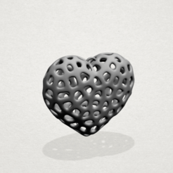 Free 3D print files Necklaces -Voronoi Heart, GeorgesNikkei