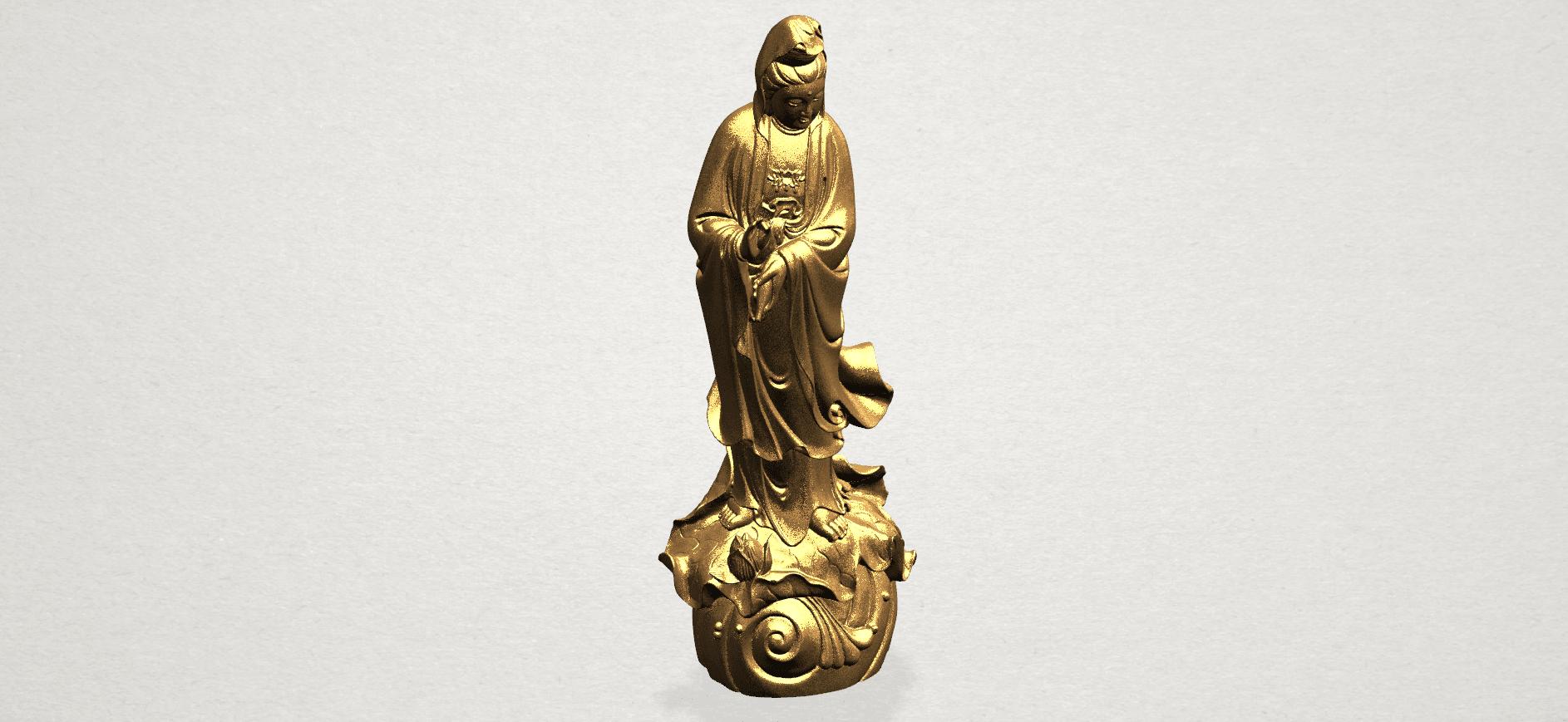 Avalokitesvara Buddha - Standing (i) A09.png Download free STL file Avalokitesvara Bodhisattva - Standing 01 • 3D printable design, GeorgesNikkei