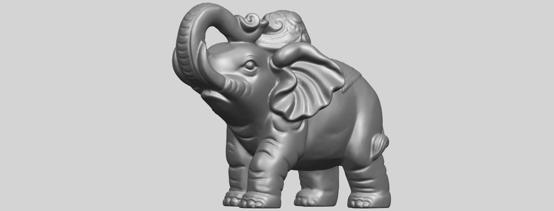 09_Elephant_02_150mmA03.png Télécharger fichier STL gratuit Eléphant 02 • Plan imprimable en 3D, GeorgesNikkei