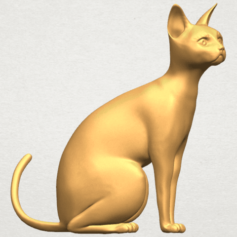 TDA0576 Cat 01 A07.png Télécharger fichier STL gratuit Chat 01 • Modèle pour imprimante 3D, GeorgesNikkei