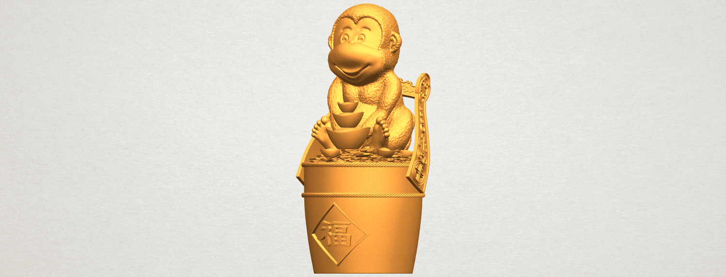 A02.png Download free STL file Monkey A05 • 3D print design, GeorgesNikkei