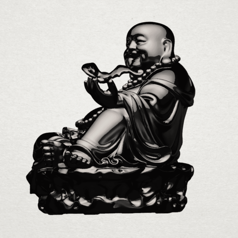 Metteyya Buddha 06 - B02.png Download free STL file Metteyya Buddha 06 • 3D print model, GeorgesNikkei