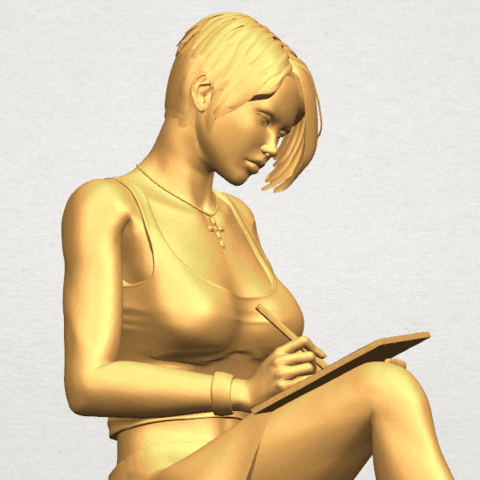 TDA0471 Beautiful Girl 05 A08.png Download free STL file Beautiful Girl 05 • 3D printing template, GeorgesNikkei