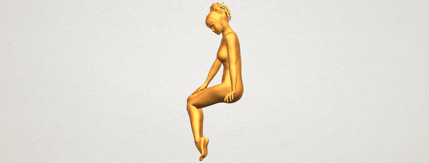 A04.png Download free STL file Naked Girl E01 • 3D printer template, GeorgesNikkei