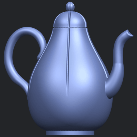 19_TDA0323_Tea_Pot_iiB07.png Download free STL file Tea Pot 02 • 3D printer template, GeorgesNikkei