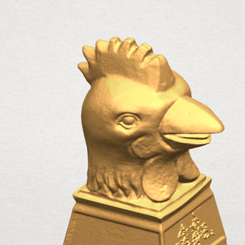 TDA0517 Chinese Horoscope of Rooster 02 A07.png Download free STL file Chinese Horoscope of Rooster 02 • 3D printable object, GeorgesNikkei