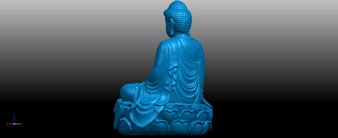 04.png Télécharger fichier STL gratuit Gautama Bouddha 01 • Plan pour impression 3D, GeorgesNikkei