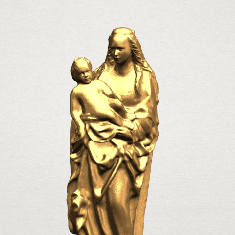 Mother and Child (vi) - A07.png Download free STL file Mother and Child 06 • 3D printing template, GeorgesNikkei