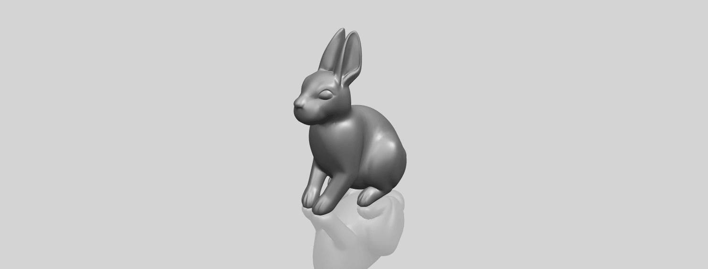 TDA0755_Rabbit_03A00-1.png Télécharger fichier STL gratuit Lapin 03 • Design à imprimer en 3D, GeorgesNikkei