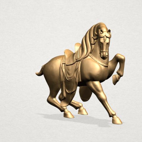 Horse III - A03.png Télécharger fichier STL gratuit Cheval 03 • Design imprimable en 3D, GeorgesNikkei