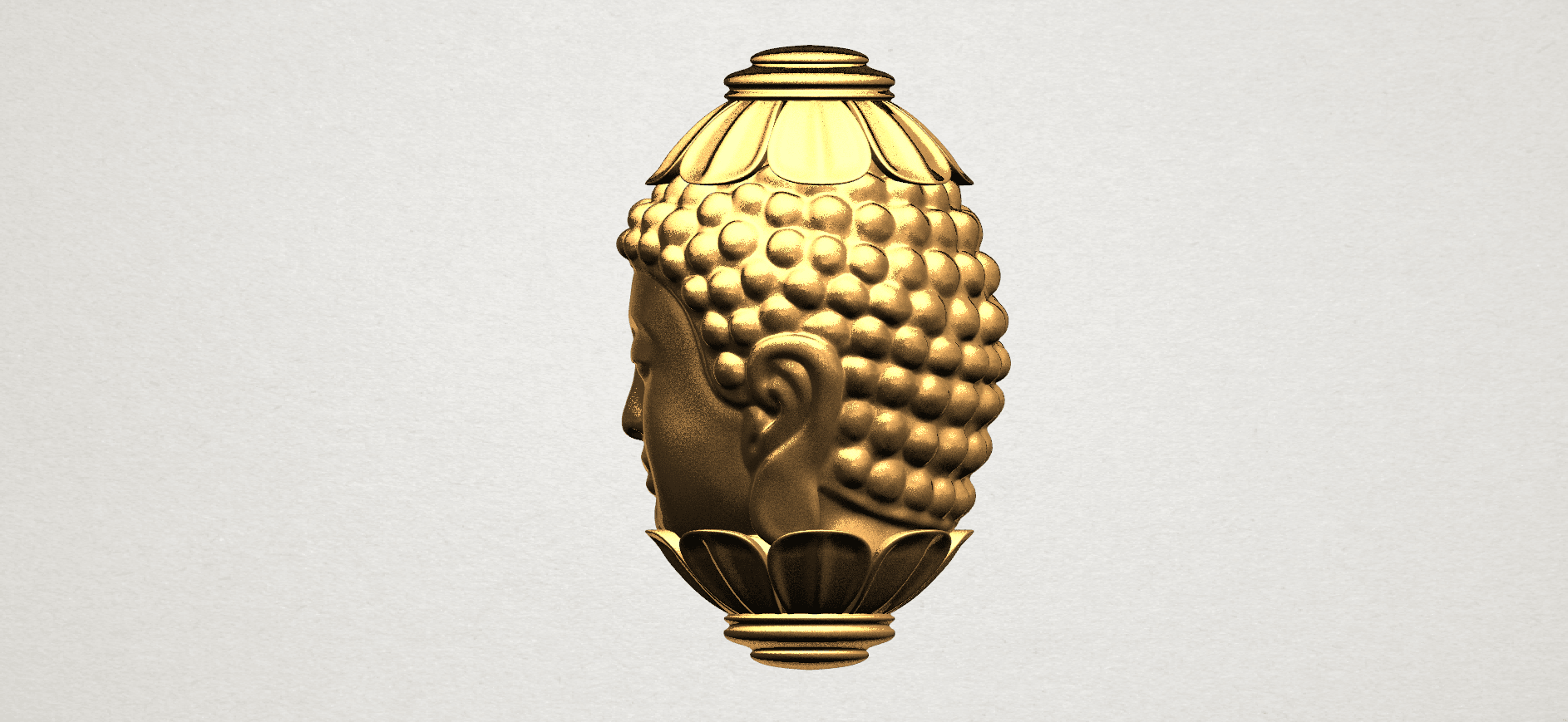 Buddha - Head Sculpture 80mm -A04.png Download free STL file Buddha - Head Sculpture • 3D printing model, GeorgesNikkei