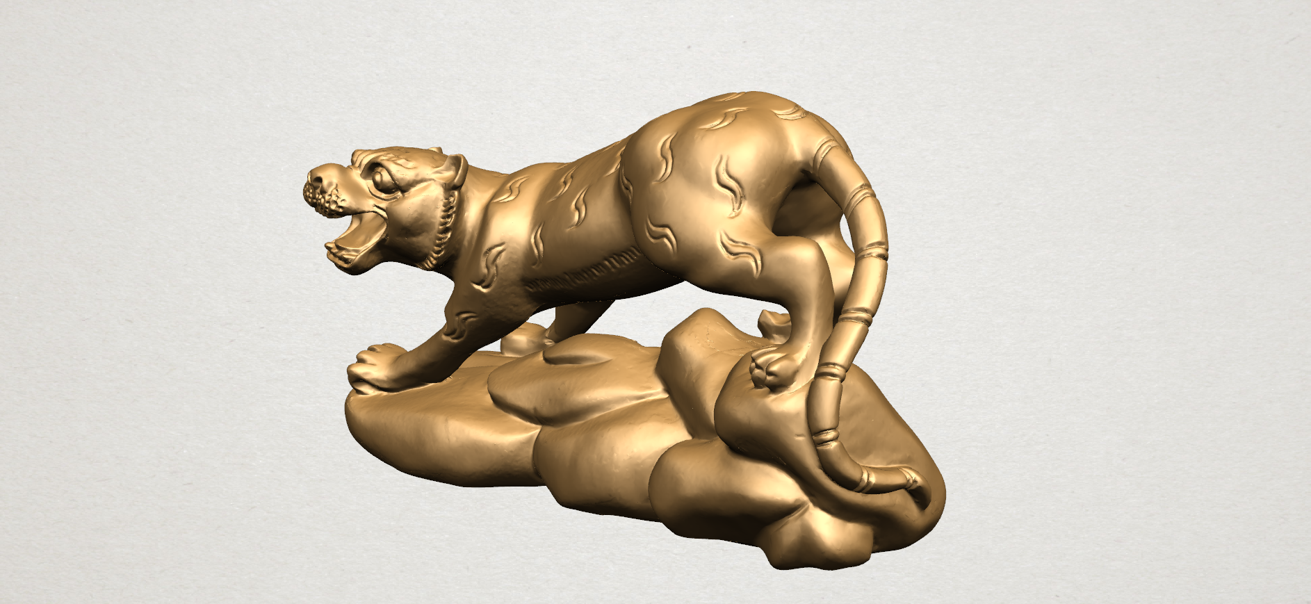 Chinese Horoscope03-A02.png Download free STL file Chinese Horoscope 03 Tiger • 3D printer template, GeorgesNikkei
