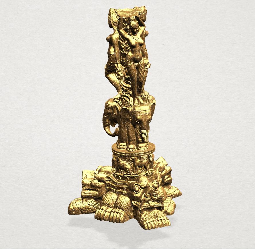 Thai Elephant Tower 80mm - A02.png Télécharger fichier STL gratuit Tour de l'éléphant thaïlandais • Modèle pour impression 3D, GeorgesNikkei