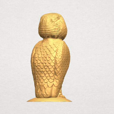 TDA0594 Owl 03 A06.png Download free STL file Owl 03 • 3D printing object, GeorgesNikkei