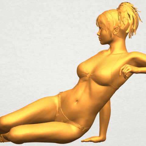 A03.png Download free STL file Naked Girl F02 • 3D printable template, GeorgesNikkei