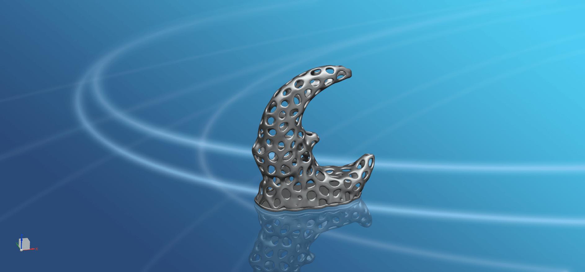 Voronoi Moon -01.png Télécharger fichier STL gratuit Lune Voronoi • Modèle pour impression 3D, GeorgesNikkei
