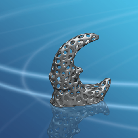 Voronoi Moon -01.png Download free STL file Voronoi Moon • Design to 3D print, GeorgesNikkei