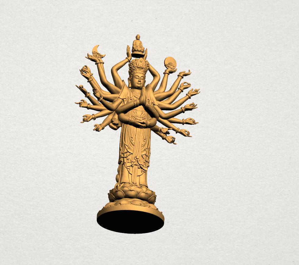 Avalokitesvara Bodhisattva (multi hand) 80mm -A05.png Download free STL file Avalokitesvara Bodhisattva (multi hand) (i) • 3D print object, GeorgesNikkei