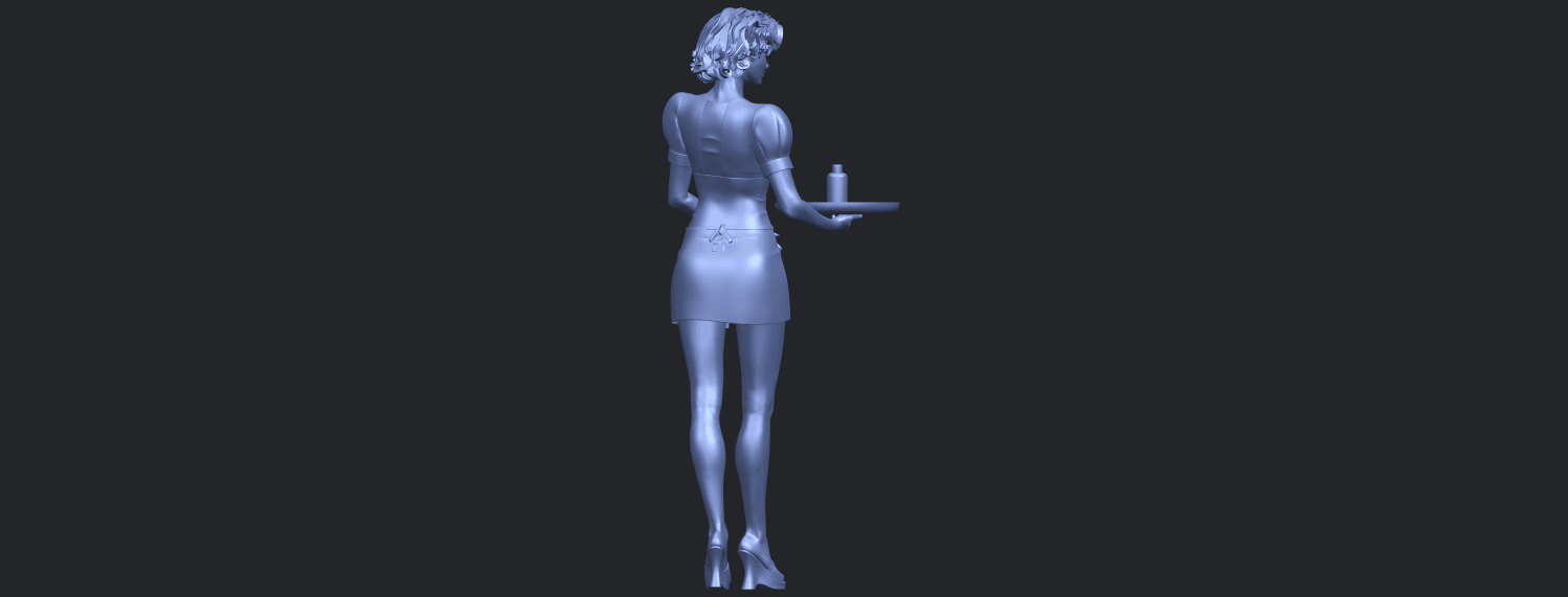 07_TDA0475_Beautiful_Girl_09_WaitressB08.png Download free STL file Beautiful Girl 09 Waitress • 3D printable object, GeorgesNikkei