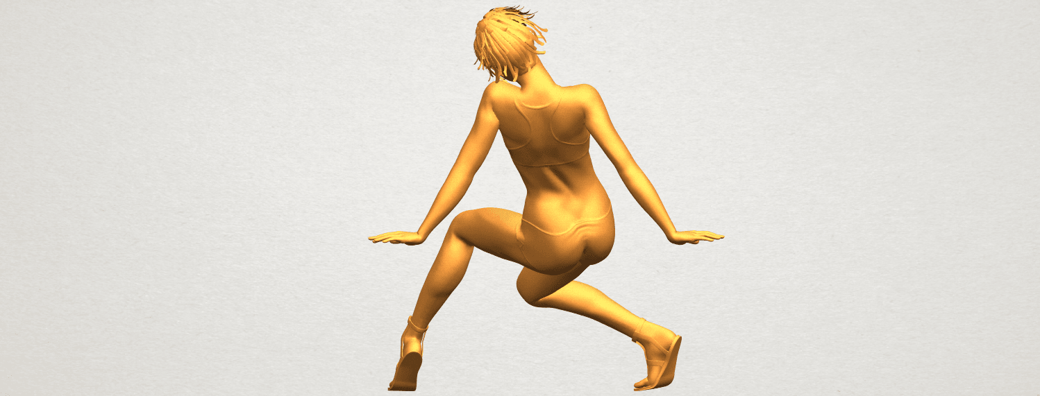 A06.png Download free STL file Naked Girl G03 • 3D print object, GeorgesNikkei