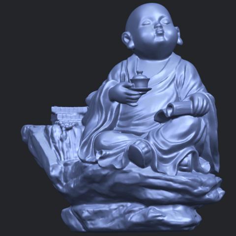 17_TDA0558_Little_Monk_Drink_TeaB02.png Télécharger fichier STL gratuit Boire du thé Little Monk Drink Tea • Design à imprimer en 3D, GeorgesNikkei
